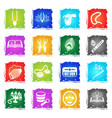 hare krishna web icons vector image