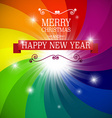 Merry Christmas and Happy New Year Card on vector image