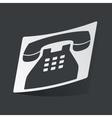 Monochrome phone sticker vector image