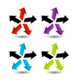 Set of colorful arrows- corporate logo vector image