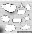 Speesh Bubbles Design Elements vector image