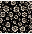 seamless pattern of flowers on a dark background vector image