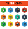 Set of twelve soccer icons vector image vector image