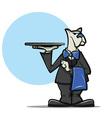 Dog Waiter vector image vector image