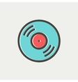 Vinyl disc thin line icon vector image