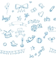 Baby doodle pattern vector image
