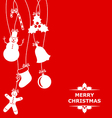 christmas hang red vector image vector image