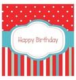 Happy birthday frame card vector image