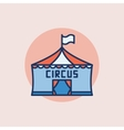 Circus flat icon vector image