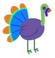 Cartoon ghost turkey flat mascot icon vector image