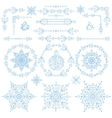 ChristmasNew year decor setWinter elements vector image