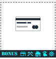 Credit card icon flat vector image