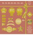Design Element Gold labels on best seller set vector image