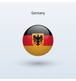 Germany round flag vector image