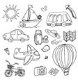 pictures of transport and tourist trips vector image