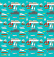 sea transport pattern vector image