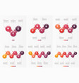 set of 3-8 option infographic templates vector image