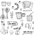Doodle of music theme stock collection vector image