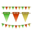 Festive flags vector image vector image