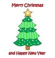 colorful Christmas tree on white background vector image