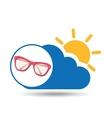 summer vacation design sunglasses fashion icon vector image