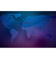 world map on dark color background vector image