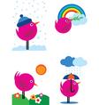 bird in season vector image vector image