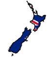 Map in colors of New Zealand vector image vector image