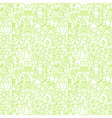 Thin Line Go Green Ecology White Seamless Pattern vector image