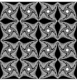 Black and white pattern of twisted squares vector image