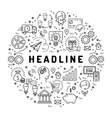 business icons Marketing line art symbols vector image