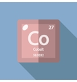 Chemical element Cobalt Flat vector image