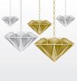 diamonds vector image