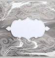 frame on watercolor background vector image