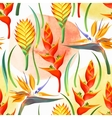 Jungle flowers seamless vector image