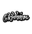 oklahoma sticker modern calligraphy hand vector image