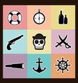 Pirates Pastel vector image