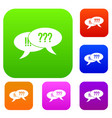 question and exclamation set collection vector image