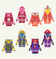 Set of female winter cardigans vector image