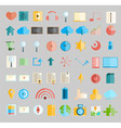 Social network with media icons vector image