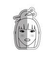 Beautiful geisha face vector image