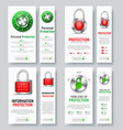 design of white vertical web banners to protect vector image
