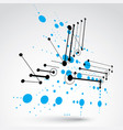 modular bauhaus 3d blue background created from vector image