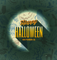 Halloween type design on a hand drawn background1 vector image