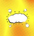 Retro style pop-art explosion steam cloud vector image