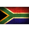 Flags South Africa with dirty paper texture vector image