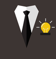 Professional suit with idea in pocket vector image vector image