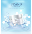 brand name poster with closeup of day pearl cream vector image