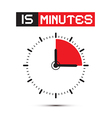 Fifteen Minutes Stop Watch - Clock vector image