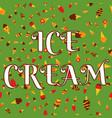 ice-cream background seamless pattern vector image